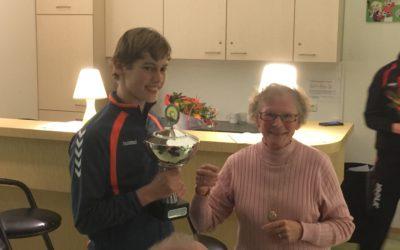 Lars de Visser winnaar Henk van der Hulst Toernooi Senioren 2016